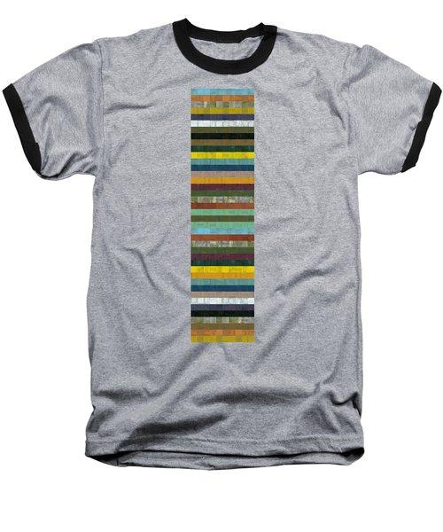 Wooden Abstract X  Baseball T-Shirt