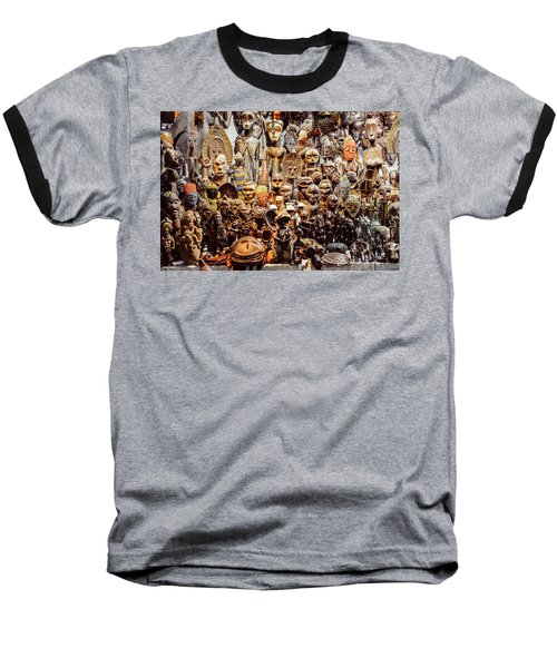 Wooden African Carvings Baseball T-Shirt