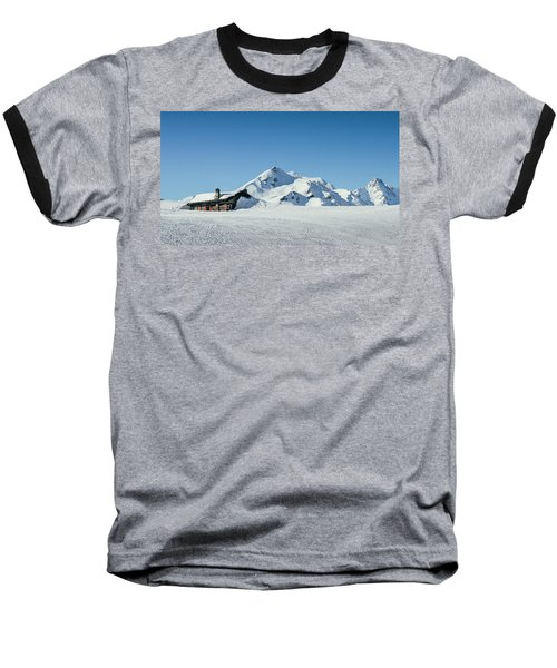 Wooden Alpine Cabin  Baseball T-Shirt
