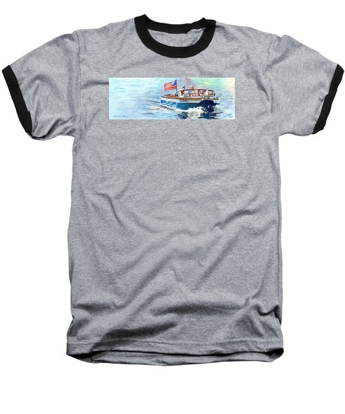 Wooden Boat Blues Baseball T-Shirt