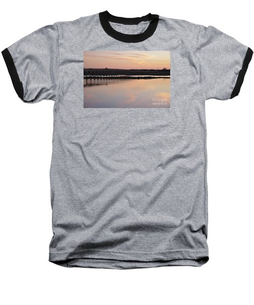 Wooden Bridge And Twilight Baseball T-Shirt