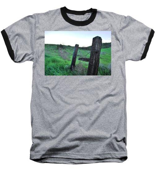 Baseball T-Shirt featuring the photograph Wooden Gate In Field by Matt Harang