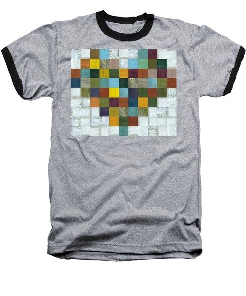 Baseball T-Shirt featuring the digital art Wooden Heart by Michelle Calkins