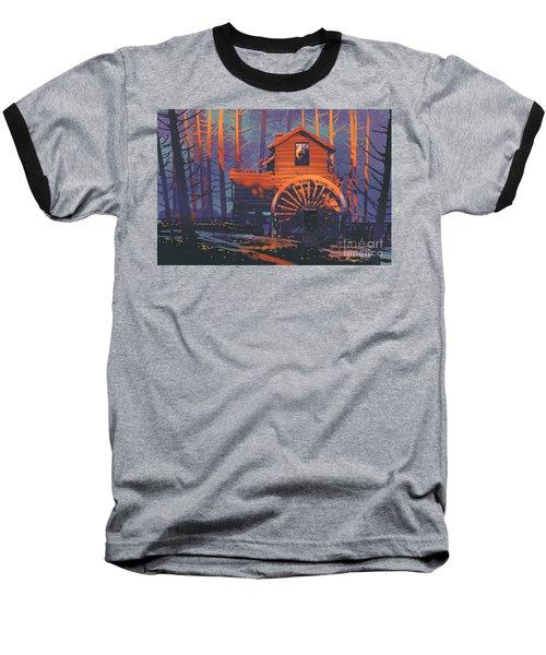 Wooden House Baseball T-Shirt