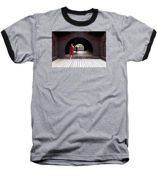 Wooden Monastery Baseball T-Shirt