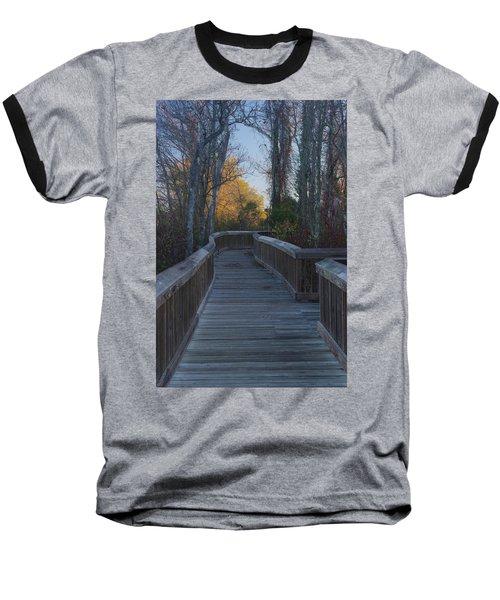 Wooden Path Baseball T-Shirt