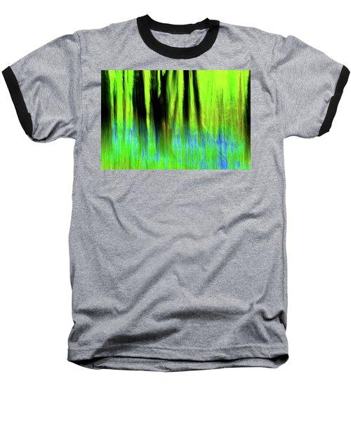 Woodland Abstract Vi Baseball T-Shirt