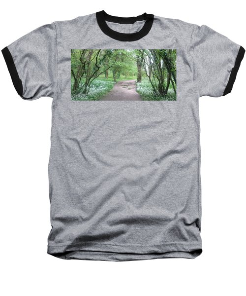 Woodland Path 1 Baseball T-Shirt
