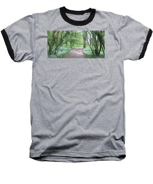 Woodland Path 1 Baseball T-Shirt