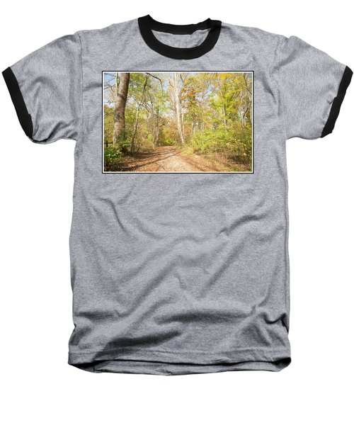 Woodland Path, Autumn, Montgomery County, Pennsylvania Baseball T-Shirt by A Gurmankin