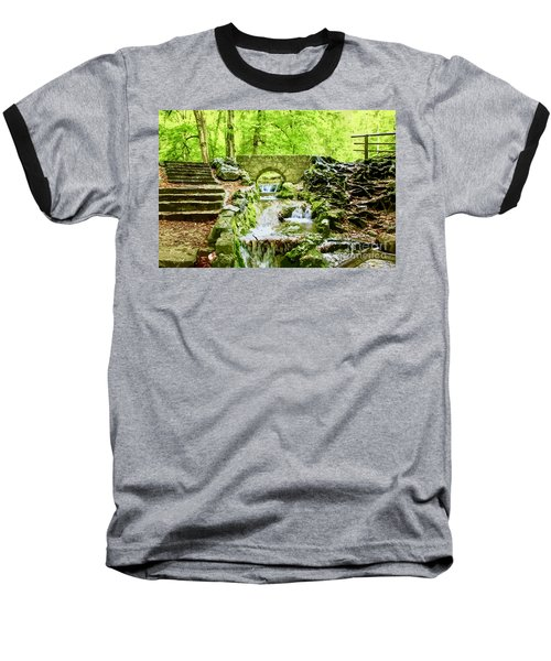 Woodland Steps And Stream Baseball T-Shirt