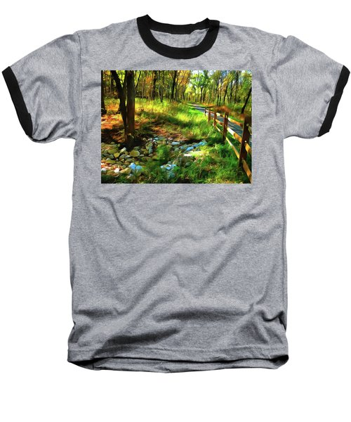 Woodland Symphony Baseball T-Shirt by Cedric Hampton