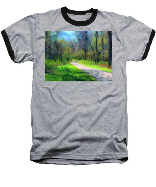 Woodland Trail Baseball T-Shirt by Cedric Hampton