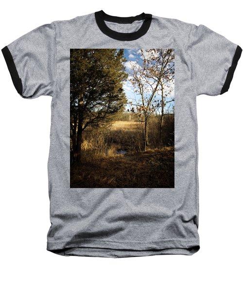 Baseball T-Shirt featuring the photograph Woodland View  by Kimberly Mackowski