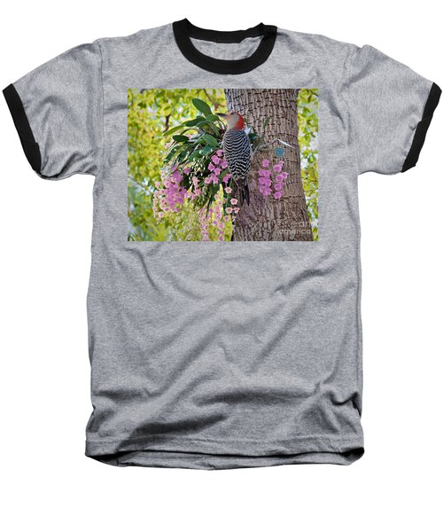 Woodpecker Heaven Baseball T-Shirt