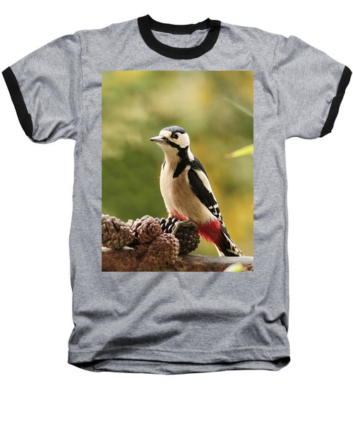 Woodpecker In Winter Baseball T-Shirt by Heike Hultsch