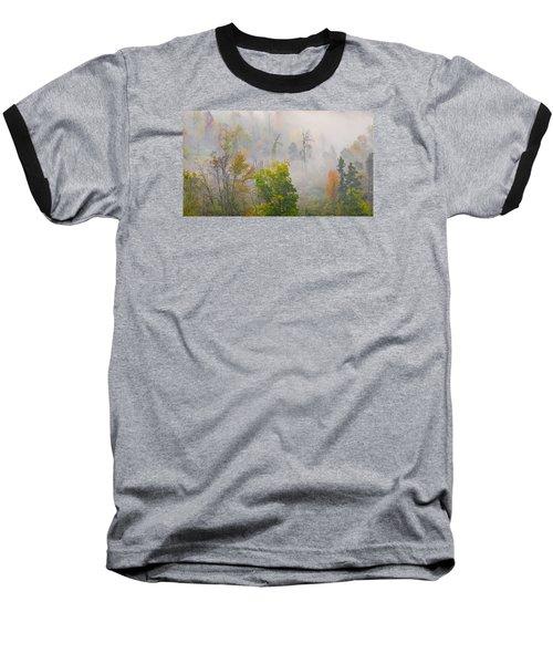 Baseball T-Shirt featuring the photograph Woods From Afar by Wanda Krack