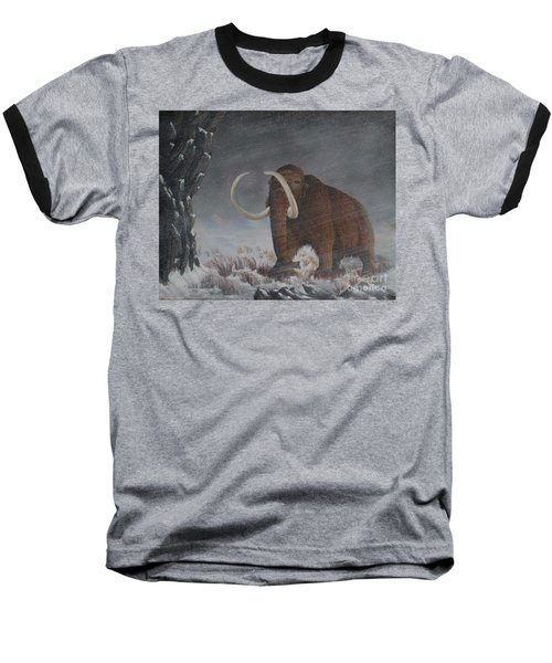 Wooly Mammoth......10,000 Years Ago Baseball T-Shirt
