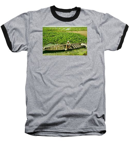 Baseball T-Shirt featuring the photograph Work Hard With Smile by Arik S Mintorogo