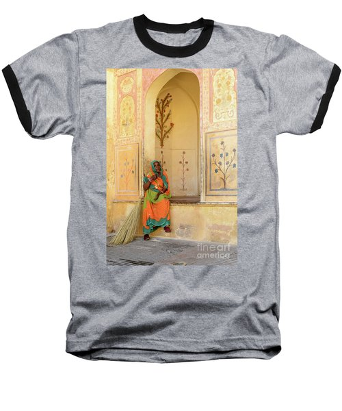 Workers In Amer Fort 01 Baseball T-Shirt