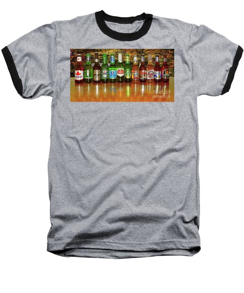 Baseball T-Shirt featuring the photograph World Beers By Kaye Menner by Kaye Menner