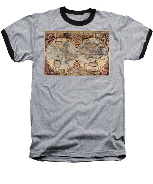 World Map 1636 Baseball T-Shirt
