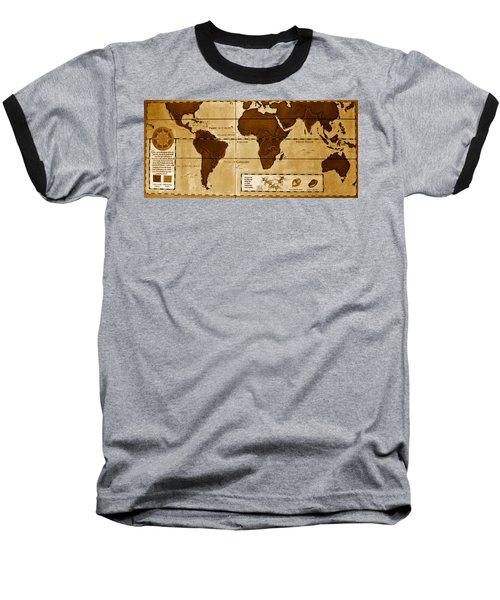World Map Of Coffee Baseball T-Shirt