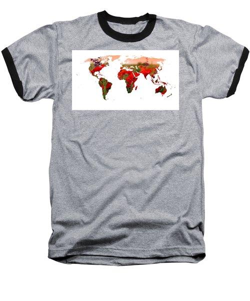 World Of Poppies Baseball T-Shirt