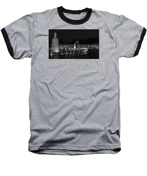 World War II Memorial Baseball T-Shirt by Ed Clark
