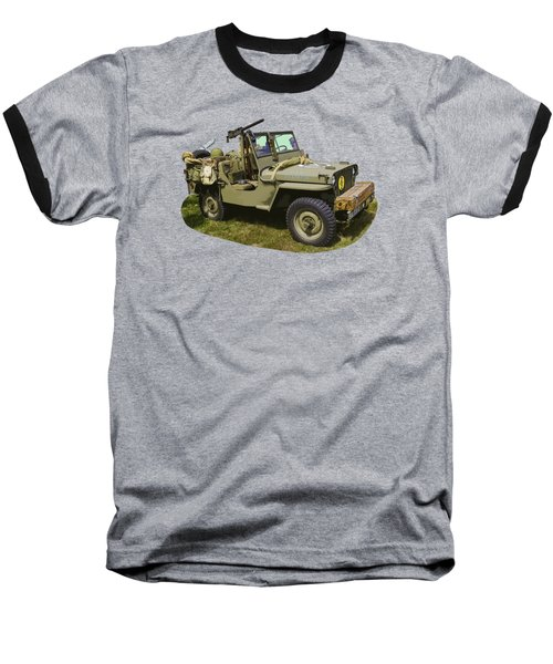 World War Two - Willys - Army Jeep  Baseball T-Shirt