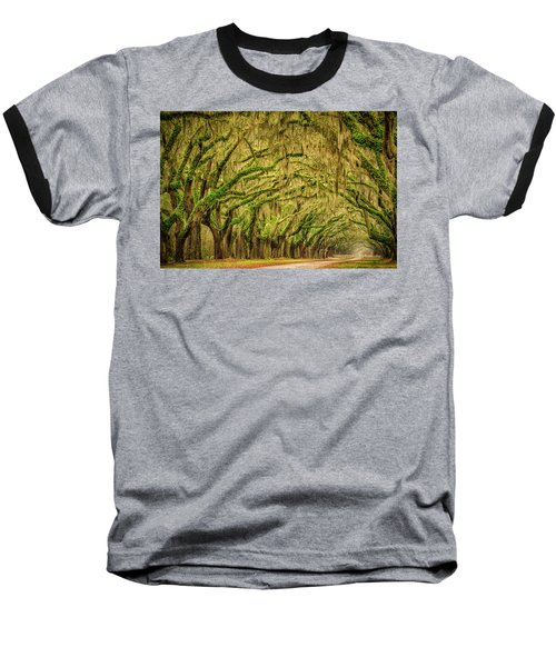 Baseball T-Shirt featuring the photograph Wormsloe Drive by Phyllis Peterson