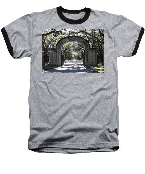 Wormsloe Plantation Gate Baseball T-Shirt