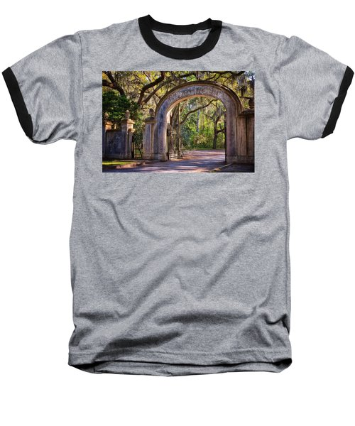 Wormsloe Plantation Gate Baseball T-Shirt