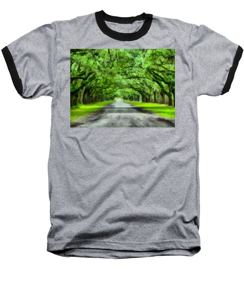 Wormsloe Plantation Baseball T-Shirt