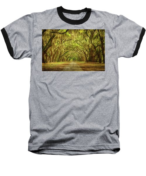 Wormsloe Plantation Oaks Baseball T-Shirt