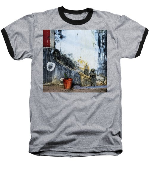 Baseball T-Shirt featuring the photograph Worn Palace Stairs by Marion McCristall