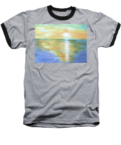 Wow Sunset Baseball T-Shirt by Debbie Lewis