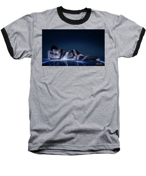 Baseball T-Shirt featuring the photograph Wrapped In Light by Rikk Flohr