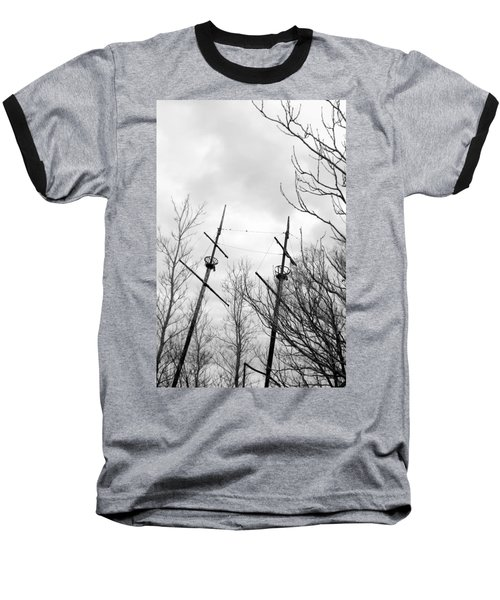 Baseball T-Shirt featuring the photograph Wrecked by Valentino Visentini