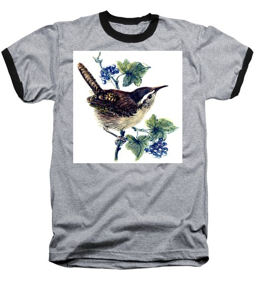 Wren In The Ivy Baseball T-Shirt