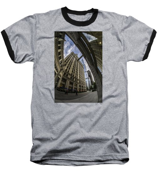 Wrigley And Trump A Fisheye View Baseball T-Shirt