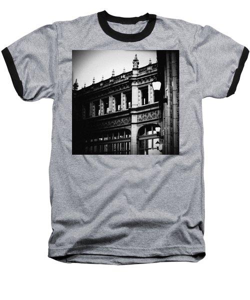 Wrigley Building Square Baseball T-Shirt