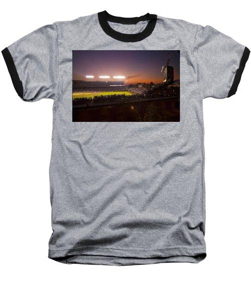 Wrigley Field At Dusk Baseball T-Shirt