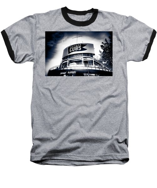 Wrigley Field Bleachers In Black And White Baseball T-Shirt
