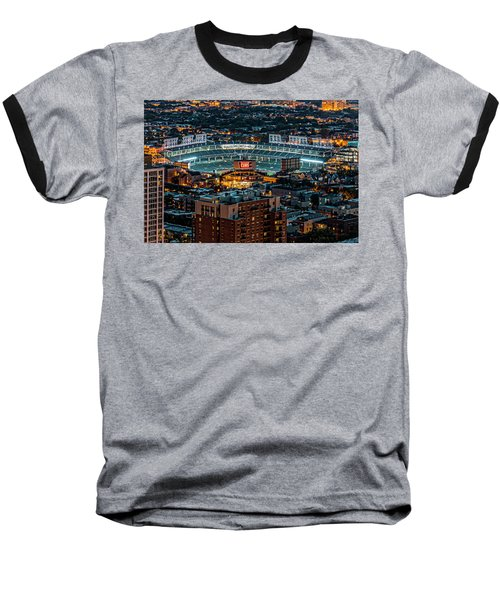 Wrigley Field From Park Place Towers Dsc4678 Baseball T-Shirt by Raymond Kunst
