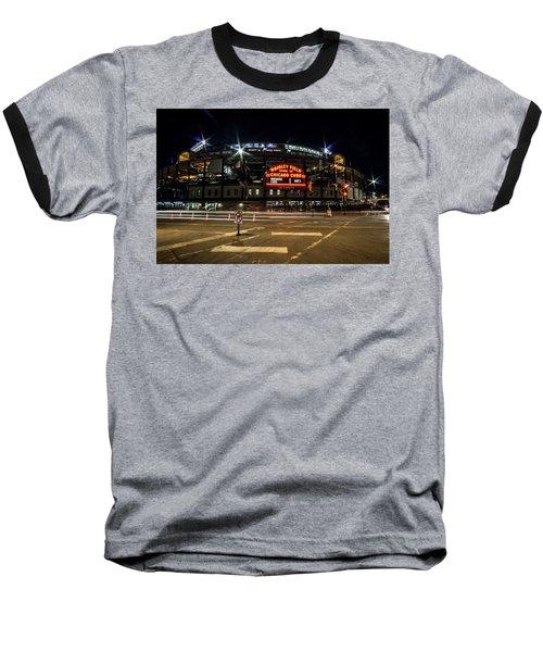Wrigley Field Marquee At Night Baseball T-Shirt