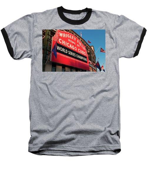 Wrigley Field World Series Marquee Angle Baseball T-Shirt