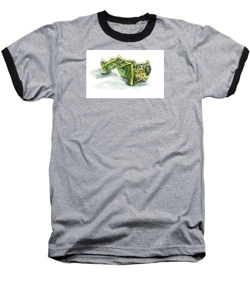 Wrinkled Dollar Baseball T-Shirt
