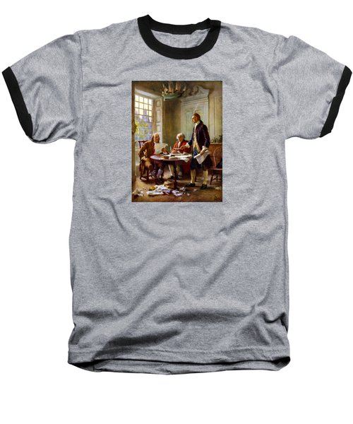 Writing The Declaration Of Independence Baseball T-Shirt by War Is Hell Store