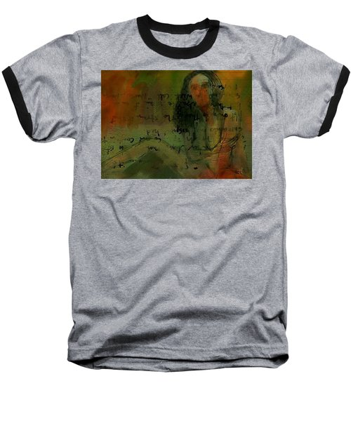 Baseball T-Shirt featuring the painting Written Out by Jim Vance